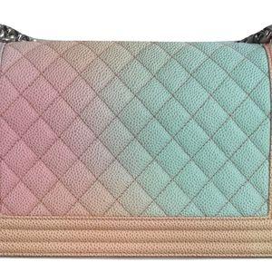 869c4cff7caa CHANEL Bags   Rainbow Multicolor Boy Bag Caviar Leather   Poshmark